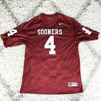 Nike NCAA Oklahoma Sooners Home Football Jersey Malcom Kelly #4 Mens Size L