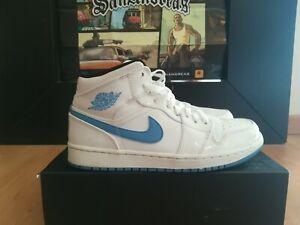 Nike air jordan 1 mid legend blue patent 554724-127 US men's 8,5