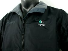 Columbia Fleece Lined Insulated Jacket Women's Large L Logitech Logo Embroidered