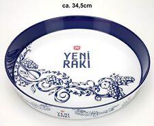 Yeni Raki Tablett Serviertablett blau weiß