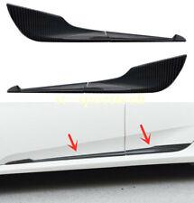 Carbon Fiber Style Fits 2016-2019 Honda Civic Side Door Body Molding Cover Trims