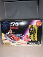 1996 Kenner Star Wars Shadows Of The Empire Swoop Trooper Vehicle & Figure-NRFB