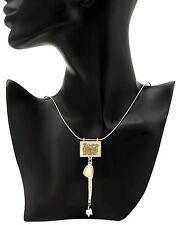 PILGRIM Skanderborg,Tribal Necklace w/Genuine Mother of Pearls & 2 Tone Enamel