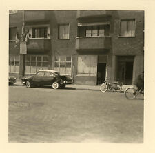 PHOTO ANCIENNE - VINTAGE SNAPSHOT - VOITURE ACCIDENT MOBYLETTE - CAR CRASH MOPED