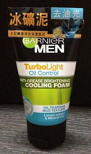 100ml GARNIER MEN TurboLight Oil Control Lemon Cooling Foam Cleanser Face Wash