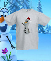 Frozen Olaf Xmas elsa Disney T-Shirt Tee Kids Princess Girls/Boys Ages 1 -13 New