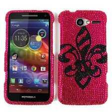 Fleur De Lis Saint Pink Diamond Hard Cover Case for Motorola Electrify M XT901