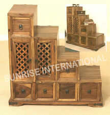 Artistic wooden step drawer chest !!