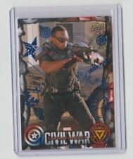 Captain America Civil War Blue Insert Card Anthony Mackie / Falcon #5