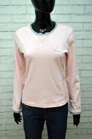 CHAMPION Maglia Donna Taglia S Slim Maglietta Rosa Manica Lunga Shirt Women's