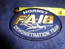 Embroidered Patch Us Navy F/A 18 Super Hornet Demonstration Team 3 1/4 Oval