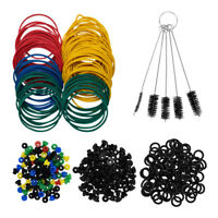 Tattoo Machine Parts Kit O-rings Rubber Bands Grommets Tattoo Brush Set