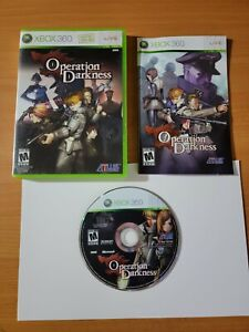 Operation Darkness (Microsoft Xbox 360, 2008) ~ 100% Complete SUPER CLEAN!