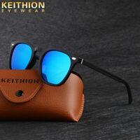 KEITHION Polarized Sunglasses Unisex Square Frame Aluminium Legs Driving Glasses