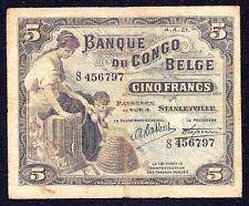 Belgian Congo 5 Francs 1921 P-4C