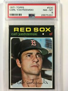 Carl Yastrzemski (( PSA 8 - CENTERED )) 1971 Topps #530 Boston Red Sox HOF Yaz