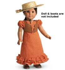 "NEW AMERICAN GIRL JOSEFINA'S SUMMER RIDING OUTFIT FOR 18"" DOLLS ~Dress Vest Hat~"