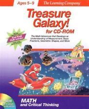 Treasure Galaxy! Pc Mac Cd learn math measurement fractions geometry kids game!