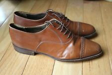 Harry Rosen Made in Italy Brown Leather Loafer Brogues 9 1/2 M