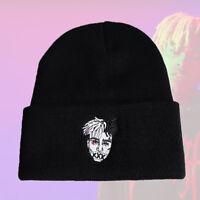 XXXTentacion Men Winter Hat Embroidery Warm Cotton Beanie Cap Hip Hop Rap Ski
