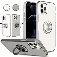 For iPhone 12 Mini/12 Pro Max Case Clear Shockproof Ring Holder Kickstand Cover