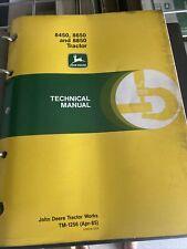 John Deere Technical Manual For 845086508850 Tractor