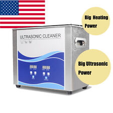 USA Ultrasonic Cleaner Cleaning Equipment Liter Industry Heated W/ Timer Heater