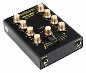 Mixer DJ PA Regolatore 2 Canali Suono Equalizzatore 2 Bande 6,3mm Jack Nero