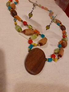 Boho Hippie Necklace And Earrings