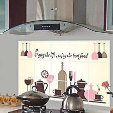 DIY Kitchen Oilproof Removable Wall Stickers Vinyl Art Mural Decor Home Decal UK