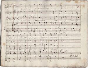 ANONIMO Manoscritto Musica Sacra REQUIEM Partitura Tenore Basso Organo XIX sec.