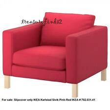 Ikea COVER - Karlstad Chair SLIPCOVER for Karlstad Armchair Sivik Pink Red  NEW