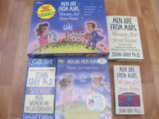Men Are From Mars Women Are From Venus Board Game+PC Game+VHS+2 Books Lot
