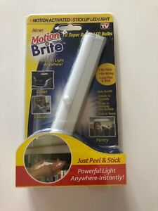 Motion Brite - Motion Activated Stick Up LED Light - As Seen On TV - NEW!