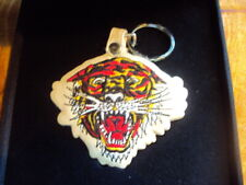~ Ed Hardy Tiger Key Chain (Large) In Presentation Box VG Condition