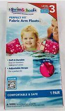 🔥🔥Swim School Soft Fabric Arm Floats | Adjustable 30-50 LBS Water Wings - PINK