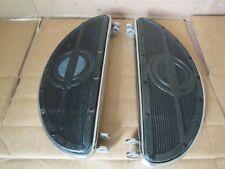 Harley Knucklehead Panhead Chrome Riveted Half Moon Foot  Boards  1940 - 65