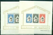 Tunisia,1965, Students, perforated + imperforated 2 blocks