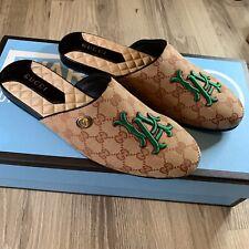 GUCCI Mens 'Flamel' LA Dodgers GG Signature Slipper Loafers Size US 12 $950