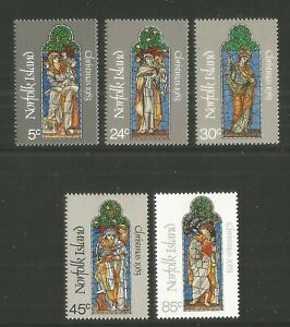 Norfolk Island 1983 Christmas/Stained Glass--Attractive Art Topical (314-18) MNH