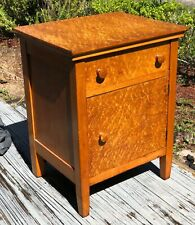 Antique Bedside table night stand furniture Amazing DEEP Birdseye Maple
