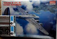 BOEINGB17 C/D 1/72 SCALE ACADEMY MODEL+ N.2 PHOTOETCHED EDUARD PARTS