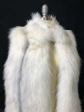 NEW Yves Salomon White Fox Fur Vest Coat
