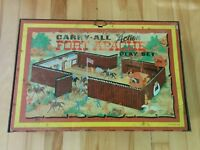Vintage Marx Carry All Fort Apache Tin Case