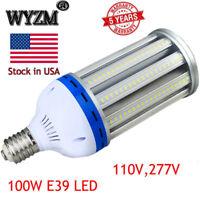 80W 100W LED Corn Light Bulb for Indoor Outdoor Large Area, E39 Mogul Base White