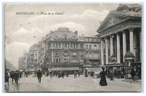 Postcard Bruxelles Place de la Bourse Brussels Belgium