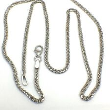 18k solid white gold wheat chain 4.5 Grams