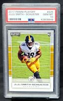 2017 Playoff RC Steelers JUJU SMITH-SCHUSTER Rookie Card PSA 10 GEM MINT Pop 8