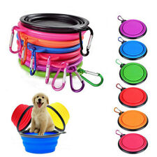 Travel Foldable Pet Dog Cat Feeding Bowl Silicone collapsible Water Dish Feeder