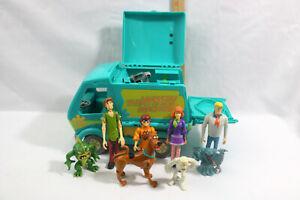 Lot of 8 Figures & Mystery Machine Scooby Doo-Velma-Shaggy-Villians-Daphne-Fred